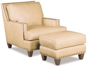 SS336 2-Piece Living Room Set with Aspen Regis Stationary Chair and Ottoman in Beige