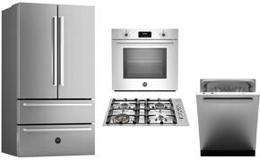 "5-Piece Stainless Steel Kitchen Package with REF36X 36"" French Door Refrigerator, QB30400X 30"" Gas Sealed Cooktop,PROFS30XV 30"" Electric Single Wall Oven, KIN30PROX 30"" Cabinet Insert Hood and DW24XV Built In Dishwasher"