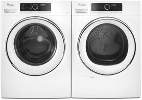 "White Front Load Compact Laundry Pair with WFW5090GW 24"" Washer and WHD5090GW 24"" Ventless Electric Dryer"