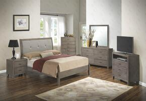 G1205AKBCHDMNTV 6 Piece Set including King Bed, Chest, Dresser, Mirror, Nightstand and Media Chest  in Grey