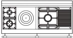 150 US K6 Cooktop Configuration w...