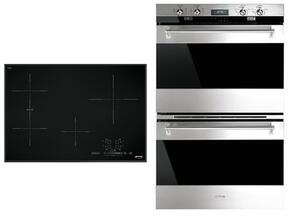 "2-Piece Kitchen Package With SIMU530B 30"" Electric Cooktop and DOU330X1 30"" Electric Double Wall Oven in Stainless Steel"