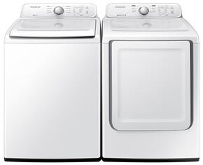 "White Top Load Laundry Pair with WA40J3000AW 27"" Washer and DV40J3000GW 27"" Gas Dryer"