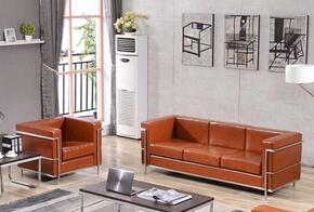 Hercules Regal Collection ZBREGAL8103SCCOGGG 2-Piece Living Room Sets with Stationary Sofa, and Living Room Chair in Cognac