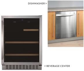 "2 Piece Stainless Steel Kitchen Package with BC-112 24"" Beverage Center and LFA-75IT Fully Integrated Dishwasher"