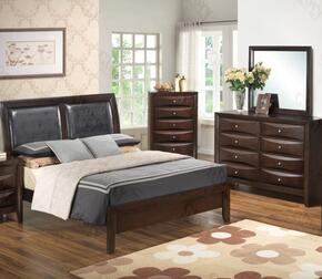 G1525AQBDM 3 Piece Set including  Queen Size Bed, Dresser and Mirror in Cappuccino