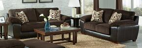 Pinson Collection 43982PCSTLKIT1CHO 2-Piece Living Room Sets with Stationary Sofa, and Loveseat in Chocolate and Espresso
