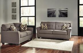 Tibbee 99101-38-35 2-Piece Living Room Set with Sofa and Loveseat in Slate