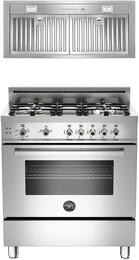 "2-Piece Stainless Steel Kitchen Package with PRO304GASXLP 30"" Freestandng Gas Range and KIN30PROX 30"" Cabinet Insert Hood"