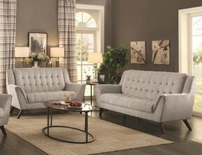 Baby Natalia Collection 511031 2-Piece Living Room Set with Sofa and Love Seat in Dove Grey