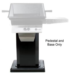ABPEDANB Mounting Kit with ABPED Black Powder Coats Pedestal and ANB Flat Patio Base