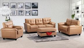 G901ASET 3 PC Living Room Set with Sofa + Loveseat + Armchair in Tan Color