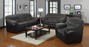Connell Collection 15955SET 3 PC Living Room Set with Sofa + Loveseat + Armchair in Olive Grey and Espresso Color