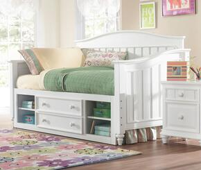 SummerTime 846674041BDN 3 PC Bedroom Set with Day Bed + Underbed Storage Drawers + Nightstand in White Color