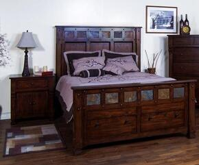 Santa Fe Collection 2322DCQBBEDROOMSET 2-Piece Bedroom Set with Queen Bed and Nightstand in Dark Chocolate Finish