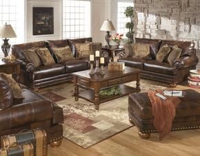 Oliver Collection MI-3510SLCO-ANTQ 4-Piece Living Room Set with Sofa, Loveseat, Chair and Ottoman in Antique