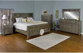 Scottsdale Collection 2322CGKBDMNC 5-Piece Bedroom Set with King Bed, Dresser, Mirror, Nightstand and Chest in Cadet Gray Finish