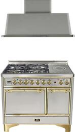 2-Piece Stainless Steel Kitchen Package with UMCD100SDMPI 40