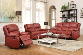 Zuriel 52150SLCT 5 PC Living Room Set with Sofa + Loveseat + Recliner + Coffee Table + End Table in Red Color