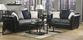 1420038SET2 Masoli Two-Toned 13-Piece Living Room Set with Sofa, Loveseat, Occasional Tables Set, Medium Rug, Pairl of Lamps and 5PC Accessory Set in Cobblestone