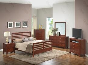 G1200CTB2DMNTV 5 Piece Set inclduing Twin Bed, Dresser, Mirror, Nightstand and Media Chest in Cherry