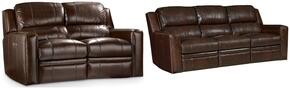 SS510 2-Piece Living Room Set with Forum Harvest Power Motion Sofa and Loveseat in Chocolate Brown