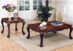 12165CE Dresden 2 PC Living Room Table Set with Coffee table + End Table in Cherry Oak Finish