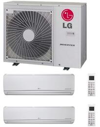 LMU30CHVKIT Dual Zone Mini Split Air Conditioner System with 30000 BTU Cooling Capacity, 2 Indoor Units, and Outdoor Unit