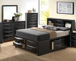 G1500GKSB3DM 3 Piece Set including King Size Bed, Dresser and Mirror in Black