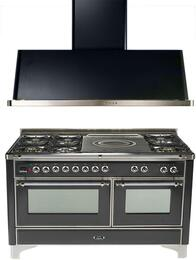 2-Piece Matte Graphite Kitchen Package with UM150SDMPMX 60