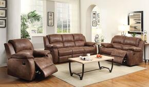 Zanthe II Collection 51440SLRT 6 PC Living Room Set with Sofa + Loveseat + Recliner + Coffee Table + 2 End Tables in Brown Color