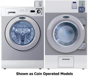 """Grey Front Load Card Ready Laundry Pair with WHWF09810DC 27"""" Washer and DAWF0GDC 28"""" Gas Dryer"""