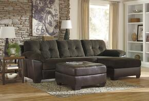 Vanleer 15900SSOR 2-Piece Living Room Set with Right Chaise Sectional Sofa and Ottoman in Chocolate