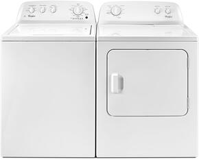 "White Front Load Laundry Pair with WTW4616FW 28"" Washer and 3.5 cu. ft. Capacity and WGD4616FW 29"" Gas Dryer with 7.0 cu. ft. Capacity"