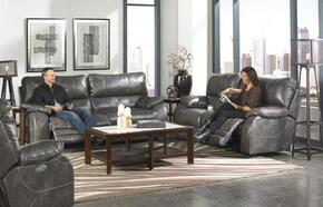 Sheridan Collection 64271-1152-78/1252-78SSET 3 PC Living Room Set with Power Lay Flat Reclining Sofa + Loveseat + Recliner in Steel Color