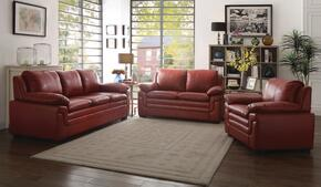 G289SET 3 PC Living Room Set with Sofa + Loveseat + Armchair in Red Color