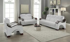 G487SET 3 PC Living Room Set with Sofa + Loveseat + Armchair in White Color