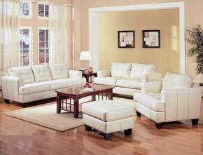 Samuel 501691SLCO 4 PC Living Room Set with Sofa + Loveseat + Chair + Ottoman in Cream Color