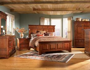 KALRM5030Q6P Kalispell 6-Piece Bedroom Set with Queen Sized Mantel Bed, Chest, Dresser, Mirror and Two Nightstands