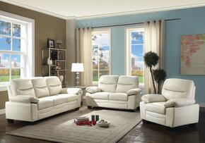 G675SET 3 PC Living Room Set with Sofa + Loveseat + Armchair in Pearl Color