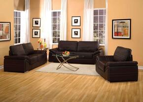 Ember Collection 51695SLCT 6 PC Living Room Set with Sofa + Loveseat + Chair + 3 PC Table Set in Espresso Color