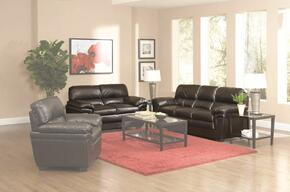 502951SET2 Fenmore 2 Pcs Casual Living Room Set in Dark Brown (Sofa and Loveseat)