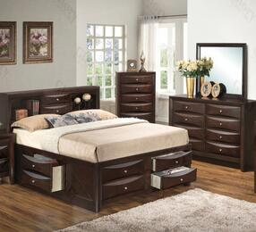 G1525GFSB3DM 3 Piece Set including  Full Size Bed, Dresser and Mirror in Cappuccino