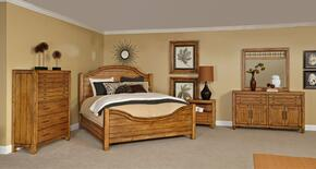 Bethany Square 4930QPB2NCDM 6-Piece Bedroom Set with Queen Panel Bed, 2 Nightstands, Chest, Door Dresser and Landscape Mirror in Rustic Brown Finish