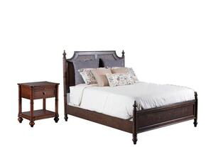 Passages Collection 14BO7024PW2PCKPS1DNKIT1 2-Piece Bedroom Sets with King Poster Bed, and Nightstand in Akzo Nobel
