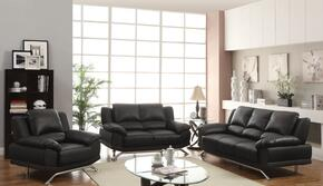 Maigan Collection 51205SLC 3 PC Living Room Set with Sofa + Loveseat + Chair in Black Color