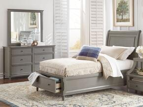 Avignon Youth Collection 1618FPBDM 3-Piece Bedroom Set with Full Storage Bed, Dresser and Mirror in Grey