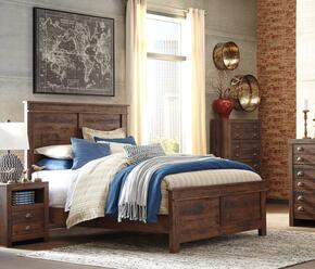 Hammerstead Queen Bedroom Set with Panel Bed, and Nightstand in Brown