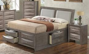 G1505ITSB4CHN 3 Piece Set including Twin Size Bed, Chest and Nightstand in Gray