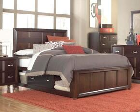 Eastlake 2 Collection 5 Piece Bedroom Set With Queen Size Storage Panel Bed + 2 Nightstands + Dresser + Mirror: Cherry